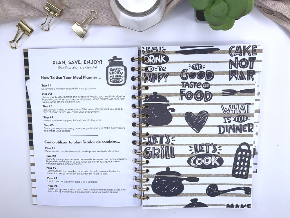 bilingual meal planning planner